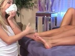 sexy hot blonde slave girl lick 2 Mistress socks and bare feet