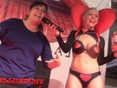 Maria de Erotic Sensual tappersex show en el FEDA 2015 by Viciosillos.com