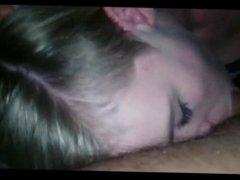 Aubrey from 1fuckdate.com - Amateur blonde blowjob facial