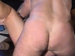 Chubby cougar with big boobs having sex
