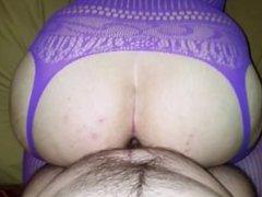 Big Ass In Purple Fishnet