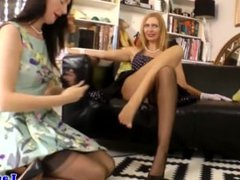 Classy british milf lesbians From LOOK4MILF.COM in stockings
