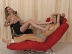 Lesbian bondage foot fetish