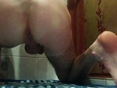 Huge toys in my ass, self fisting and cum