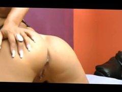 Mistress farts on slave