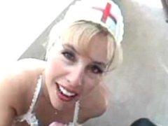 Big tit nurse blowjob and swallow. Yetta from 1fuckdate.com