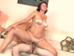 Real granny fucks the hell out of . Gregoria from 1fuckdate.com