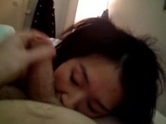 Asian Amateur BJ and Swallow