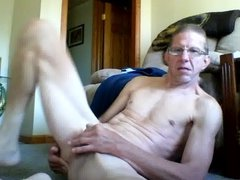 DENNIS YEAGER PLAYING WITH HIS COCK