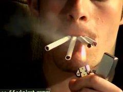 Hairy white men gay porn movie Garage Smoke Orgy