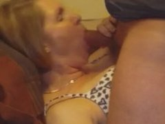 Scott from 1fuckdate.com - Milf wife taking cumshot on the ch