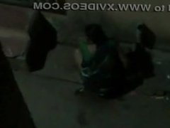 aunty caught pee in street at night