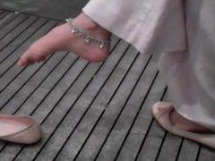 candid indian dangling toe wiggle