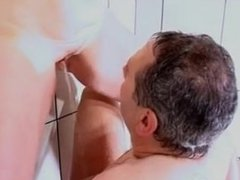 Couple under shower. Meri from 1fuckdate.com
