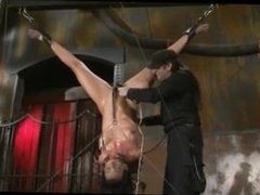 Submissive whore tortured with BDSM toys by her master