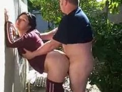 Couple fucking in the back of a pa. Raye from 1fuckdate.com