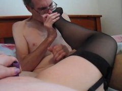 British Dirty Talking Slut Stockings Licked