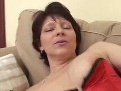 Granny Eva Dildos And Cock Sucks