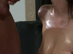 Oiled Stracy Stone gets hard sex