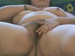 Chubby BBW Teen show us her Wet hairy pussy