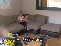 FakeAgentUK Naughty petite Brit has hot sex on casting couch