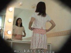 Girl's locker room of a big breast