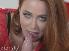 MOM Sexy redhead gets creampied after fuck