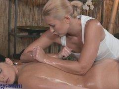 Massage Rooms Hot Czech lesbians get hardcore