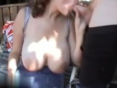 my pussy at cheat-date.com - Big saggy juggs blow in t