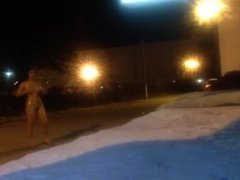 Amateur Naked Strip, Walk And Long Masturbation In The Streets