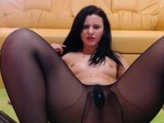 Teen brunette from nudecams.me play with ohmibod on webcam