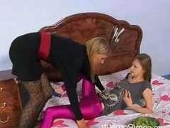 StraponCum: Pink Surprise. Part 1 of 4. A Hot Blonde Comes Home To Find