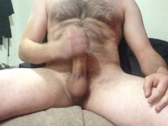 really long jerk off with multiple no-hands cumshots at the end