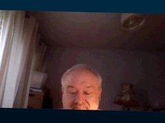 Grandpa wanking tinny cock