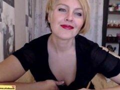 Succulent Blond Mature MILF Tease on Web Cam Black Lingerie: Porn 9b sexy cam - Free Webcams