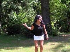 Uk indian babe gives outdoor footjob  hd