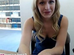 Masturbation show in library on webcam