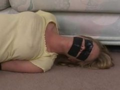 Milf Tape Gagged & Blindfolded Bondage