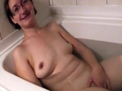 Finnish amateur wife taking a bath
