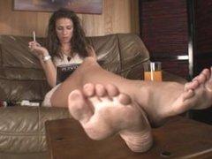 Goddess's dirty feet pov