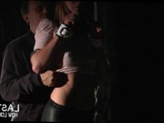 bdsm at midnight in the woods for teen gal