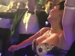 bar dancer bouncing boobs in slow motion