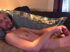 Dylan-Asmo shoves huge dildo in his tight ass and fucks himself til he cums