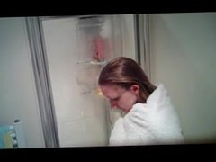 sexy german girl caught taking shower