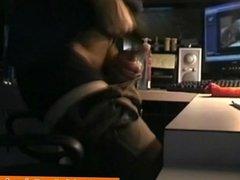 Straight amateur bloke wanking off watching porn