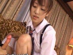 Cute Teen Sucks a Futanari Maid!