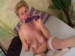 Deep inside Grandmas Hairy Snatch
