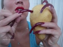 Pear drilling with long nails