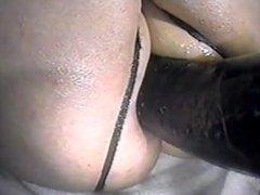 Bigger black cock anal machine pounding my asshole