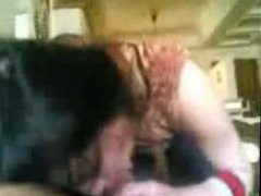 Indian college babe Amisha sucking off her friend ejaz